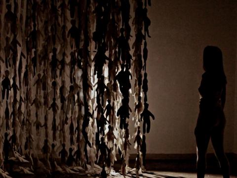 "Daria Kompf, ""Rašymo erdvė"", scenografijos dirbtuvės, Poznanės menų universitetas."