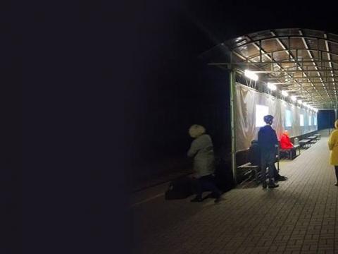 """Jurgita Juodytė, projekto """"Traukinys įjungia meną. Menas sustabdo traukinį"""" fragmentas. 2018 m. Autorės nuotr."""