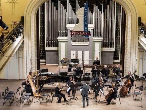 """Lietuvos ansamblių tinklas, kvartetas """"Chordos"""", dirigentas Vykintas Baltakas. D. Matvejevo nuotr."""