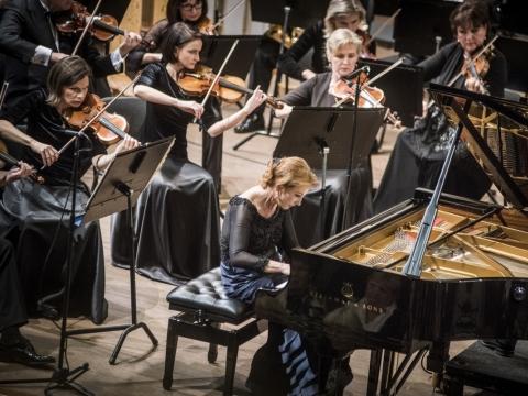 Mūza Rubackytė, Lietuvos nacionalinis simfoninis orkestras. D. Matvejevo nuotr.