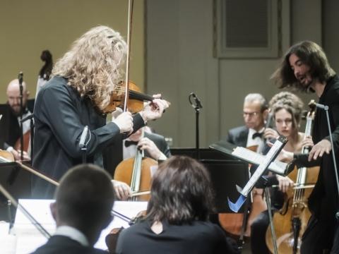 Romanas Mintsas, Philipp Chizhevsky, Lietuvos kamerinis orkestras. D. Matvejevo nuotr.