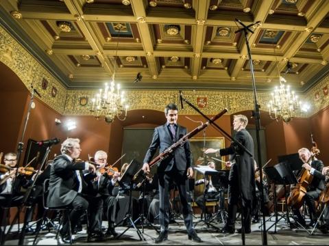 Guilhaume Santana, Vilmantas Kaliūnas ir Lietuvos kamerinis orkestras.D. Matvejevo nuotr.