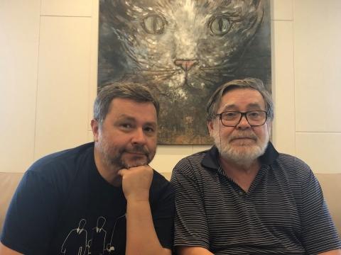 Arnas Ališauskas ir Kostas Smoriginas.