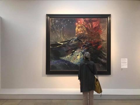 """Parodos """"Laukinės sielos. Baltijos šalių simbolizmas"""" fragmentas. V. Mačianskaitės nuotr."""