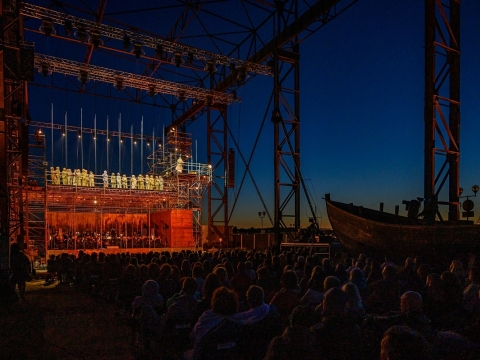 "Opera ""Skrajojantis olandas"". M. Aleksos nuotr."