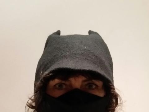 Eglės Gandos Bogdanienės kurta apsauginė kaukė. 5 karantino diena