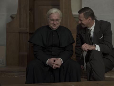 Aktoriai Ramūnas Cicėnas ir Rolandas Kazlas. A. Seliutos von Rath nuotr.