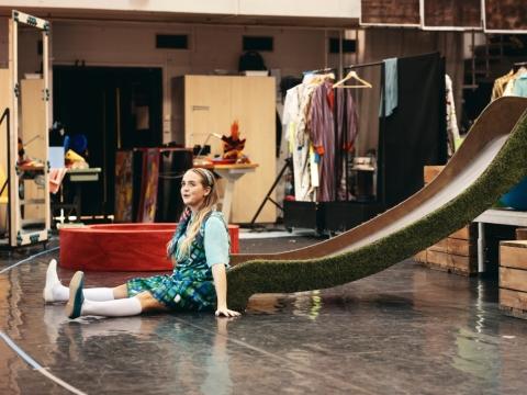 """Operos """"Alisa stebuklų šalyje"""" repeticija. A. Skulskytės nuotr."""