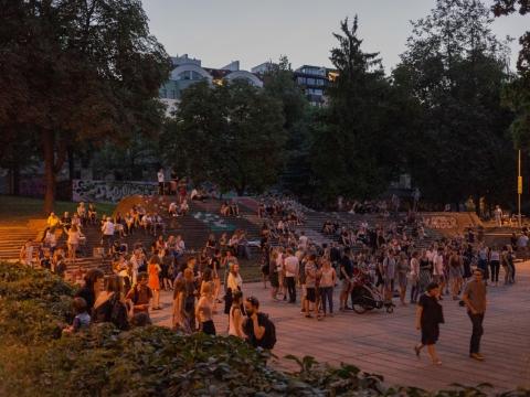 Re:formatų festivalio akimirka, 2018 08 09. A. Vasilenko nuotr.