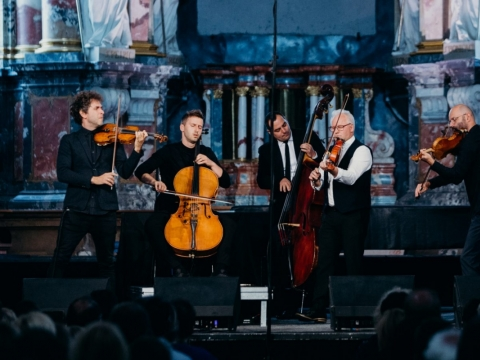 """Vołosi"" koncerto akimirka. M. Endriuškos nuotr."