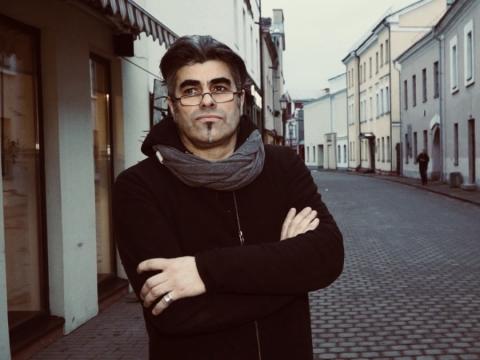 """Spektaklio """"Rusiškas romanas"""" kompozitorius Antanas Jasenka. LRT nuotr."""