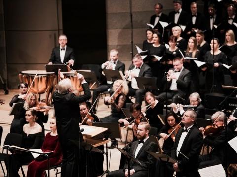 Lietuvos valstybinis simfoninis orkestras, Gintaras Rinkevičius, Kauno valstybinis choras. G. Jauniškio nuotr.