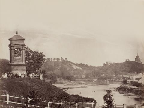 Juozapas Čechavičius. Šnipiškių Jėzaus koplyčia ir Neris (fragmentas). Apie 1873. VU