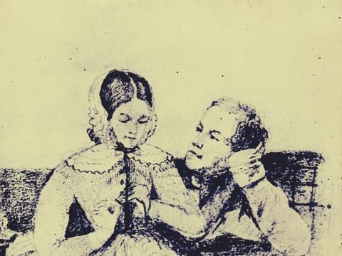 Elžbieta ir Stanisławas Moniuszkos. Červenės rajono krašto muziejus. Baltarusija