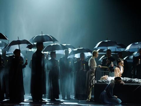 """Scena iš baleto """"Čiurlionis"""". M. Aleksos nuotr."""