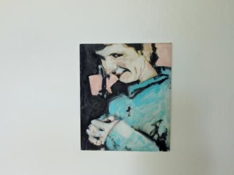 """Eglė Grėbliauskaitė, iš ciklo """"Jų įrankiai irgi buvo sidabriniai"""",  tapybos bakalauro baigiamasis darbas, VDA """"Titanikas"""". 2013 m. J. Lapienio nuotr."""