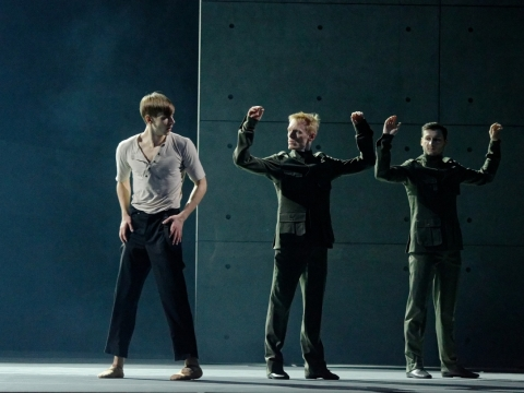 "Scena iš baleto ""Procesas"". M. Aleksos nuotr."