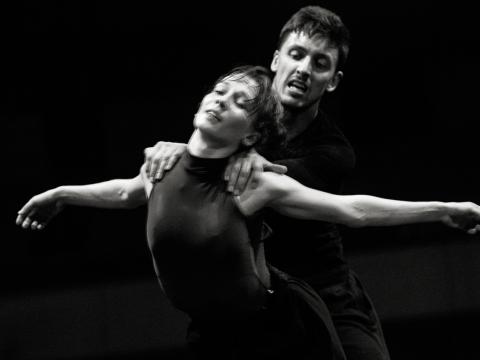 """Julija Stankevičiūtė šokio spektaklio """"Eglė žalčių karalienė"""" repeticijoje. M. Aleksos nuotr."""