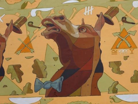 Aryz, piešinys ant namo Dainavos g. 5. E. Burbaitės nuotr.