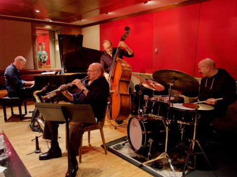 "Dave Liebman ir ""Quartette-Oblique CR"". R.I. Sutherland-Cohen nuotr."