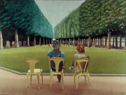 """David Hockney, """"Park sources, Vichy"""" (1970)"""