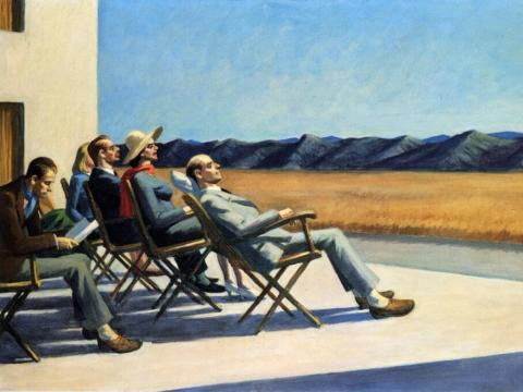 """Edward Hopper, """"Žmonės saulėje"""". 1963 m."""