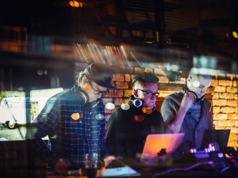 Elektroninės muzikos trio. T. Tereko nuotr.