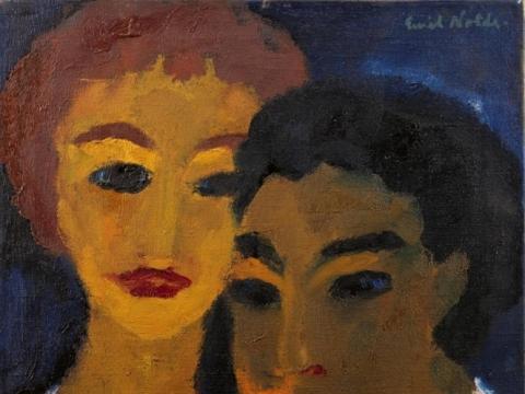 "Emil Nolde, ""Brolis ir sesė"" (1918), copyright Nolde Stiftung Seebüll"