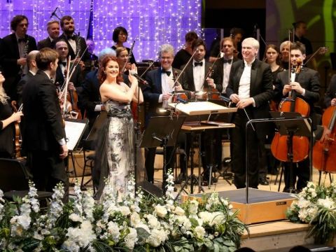 Erica Jennings, Gintaras Rinkevičius ir Lietuvos valstybinis simfoninis orkestras. R. Danisevičiaus nuotr.