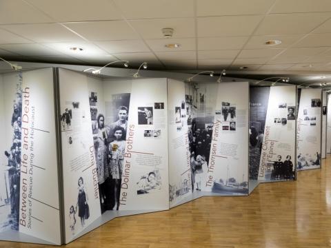 Ekspozicijos fragmentas Europos Komisijos būstinėje