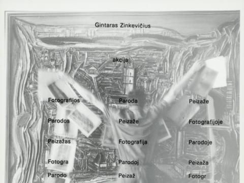 """Gintaras Zinkevičius, """"Fotografijos paroda peizaže"""". 1991–1992 m."""