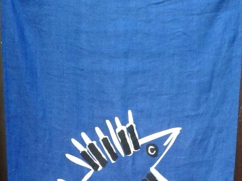 Festivalio 10-mečio proga sukurta vėliava. S. Valiulytės nuotr.