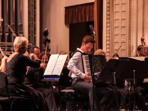 Martynas Levickis ir Nacionalinis simfoninis orkestras. A. Švedo nuotr.