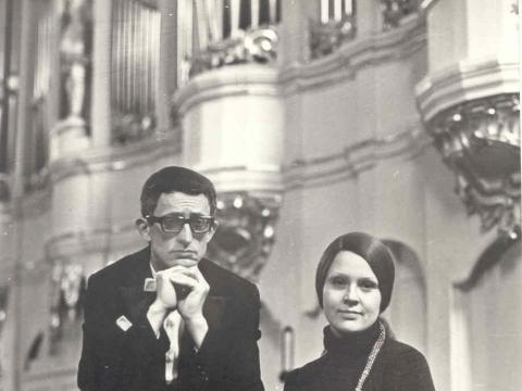 Giedrė Kaukaitė su Leopoldu Digriu. Liudo Ruikio nuotr.