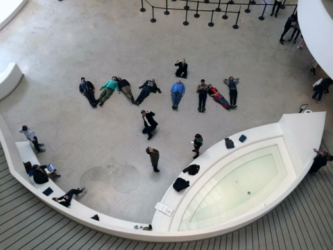 Protestas Solomono R. Guggenheimo muziejuje Niujorke