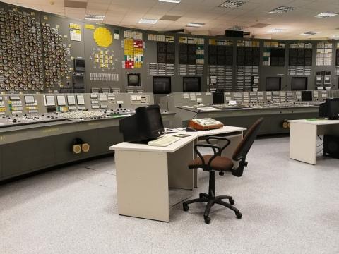 Ignalinos RBMK 1500 reaktoriaus kontrolinio pulto simuliatoriaus fragmentas. Eglės Rindzevičiūtės nuotr.