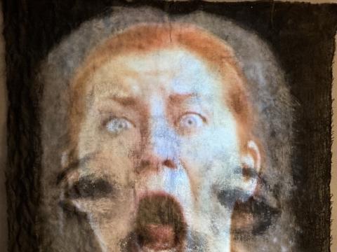 """Jurga Barilaitė, """"Kai tu į mane žiūri, aš rėkiu"""" fragmentas. 1999 m.  M. Krikštopaitytės nuotr."""