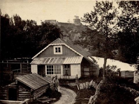 Juozapo Čechavičiaus namas. XIX a. Iš LMAVB Vrublevskių bibliotekos fondų