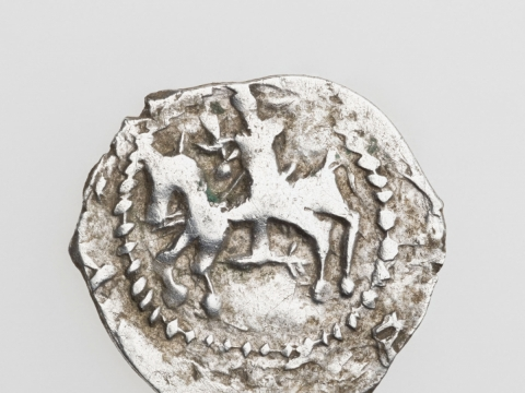 Jogailos denaras, 1388 m. G. Trečioko nuotr.