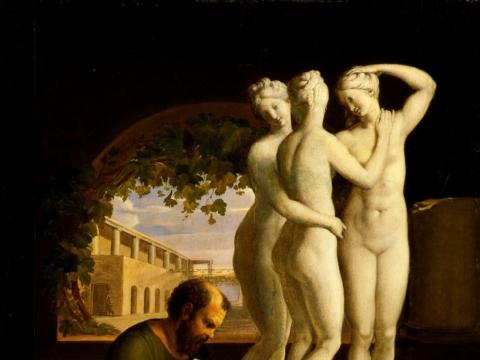 Josef Abel, Skulptorius Sokratas prie darbo. 1806 m.