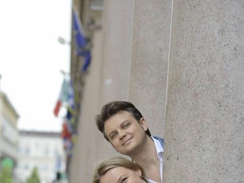 Julia Novikova ir Dmytro Popovas. LVSO nuotr.