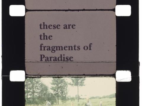 """Kadras iš J. Meko filmo """"Prisiminimai iš kelionės į Lietuvą"""". 1972 m."""