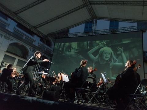 """Vakaro """"Muzika kaip kinas"""" akimirkos. E. Levin nuotr."""