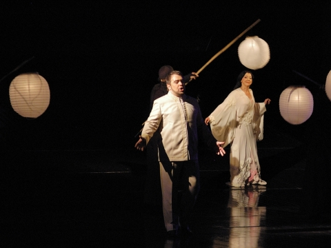 "Kristian Benedikt (Pinkertonas) operoje ""Madam Baterflai"". M. Aleksos nuotr."