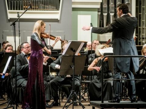 Rūta Lipinaitytė, Aleksandras Markovićius, Lietuvos nacionalinis simfoninis orkestras. D. Matvejevo nuotr.