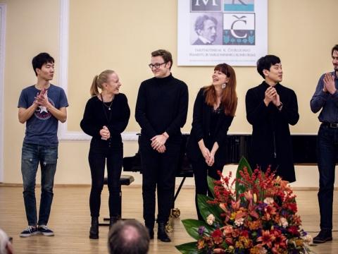 M.K. Čiurlionio pianistų konkurso finalininkai. organizatorių nuotr.