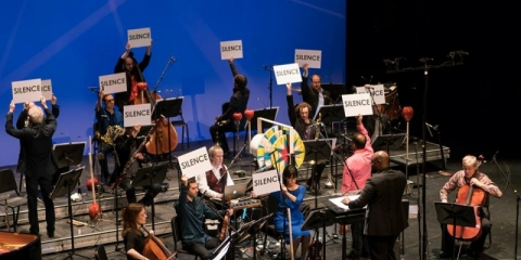 """Ensemble Modern"". K. Bienert nuotr."