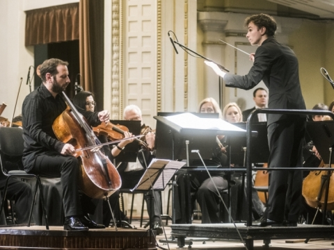 Borisas Andrijanovas, Martynas Stakionis ir Nacionalinis simfoninis orkestras. D. Matvejevo nuotr.
