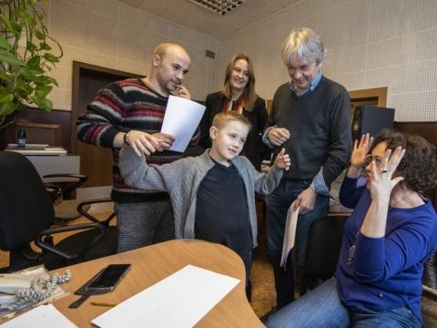 Karolis Norvila, Goda Simonaitytė, Romas Vikšraitis (viršuje), Nikas Dmitrijevcevas ir Lina Dainienė. P. Lileikio nuotr.