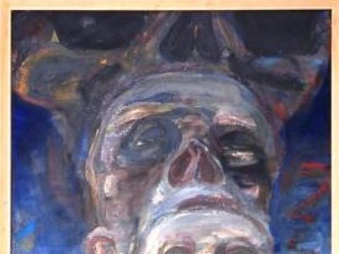 Mindaugas Skudutis. Autoportretas. 1988 m. Vidmanto Martikonio kolekcija